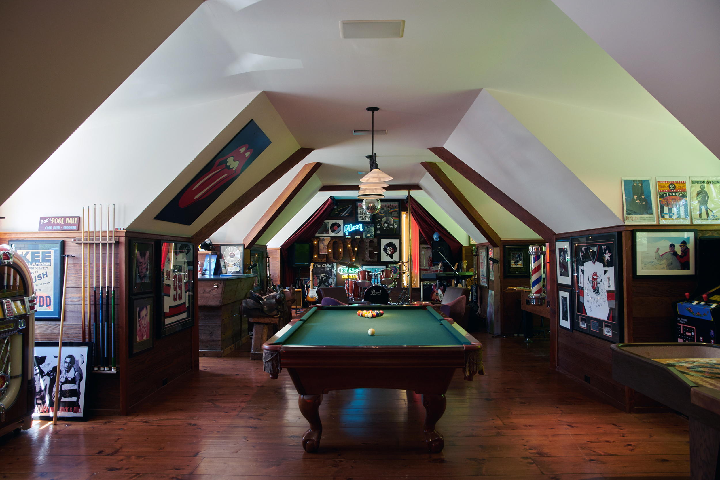 Band Stage & Game Room